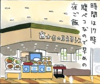 サービスエリアに泊まろう! 自分ツッコミくま 足柄 富士山の見えるレストラン