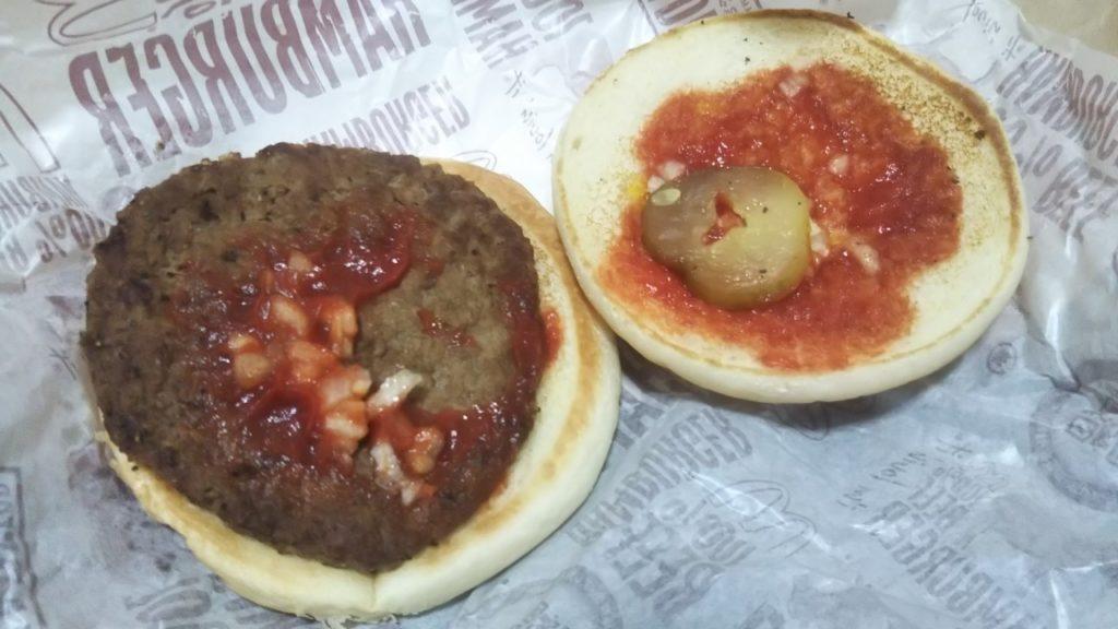 ハンバーガーの中身