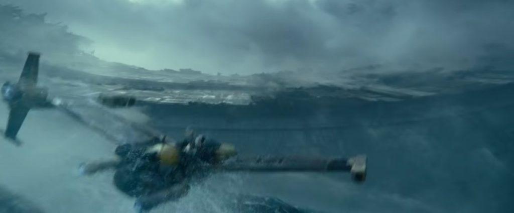 デススターの残骸に単身乗り込むレイ ルークスカイウォーカーの夜明け StarWars