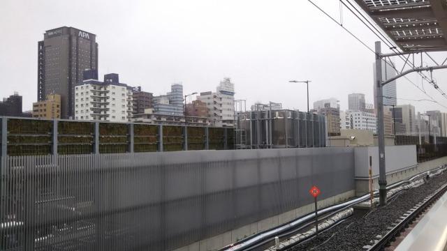 高輪ゲートウェイ駅山手線ホームから観た光景