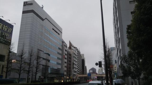 品川駅へ向かう道