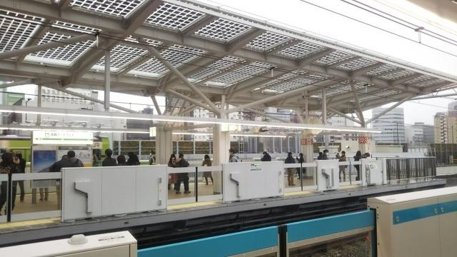 高輪ゲートウェイ駅京浜東北線ホームから観た光景