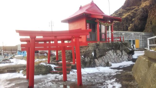 津軽海峡に臨む町