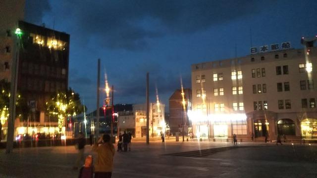 門司港駅から見た光景