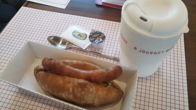 柚ドッグとオリジナルブレンドコーヒー