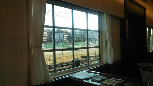 THE RAIL KITCHEN CHIKUGOの車窓