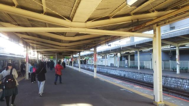 JR成田駅のホーム