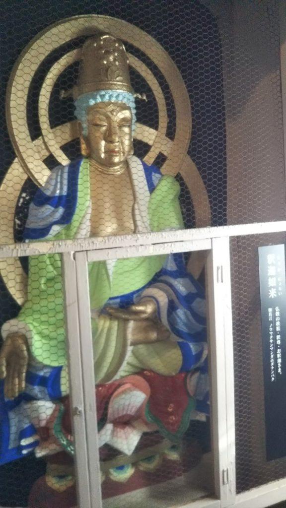 高崎観音の胎内頂上にある釈迦如来像