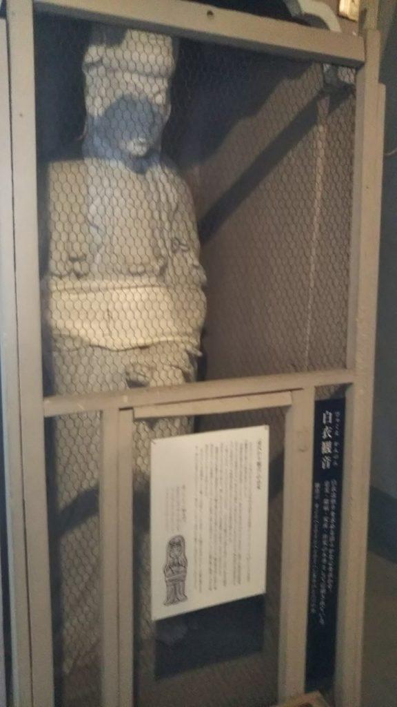 高崎観音の胎内頂上にある白衣観音像