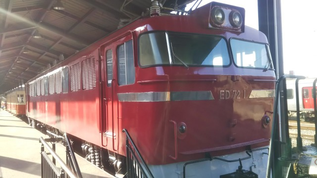 九州鉄道記念館のED72 1(東芝)