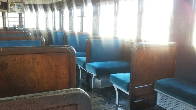 九州鉄道記念館のキハ07 41(日本車両)の車内