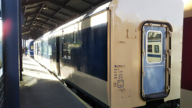 九州鉄道記念館のクハネ581-8(日本車輌・日立製作所)