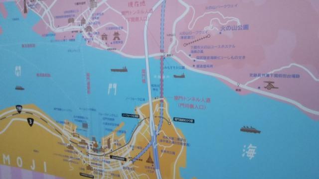 関門海峡の地図