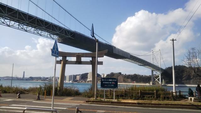 福岡側からみる関門橋