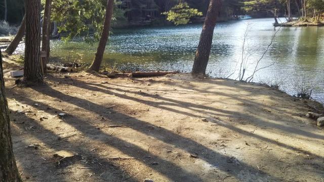 おおぐて湖キャンプ場のしらさぎ荘の湖畔エリアのF