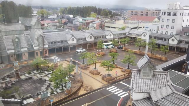上から見た高田駅