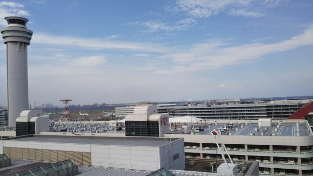 羽田空港の屋上からの景色