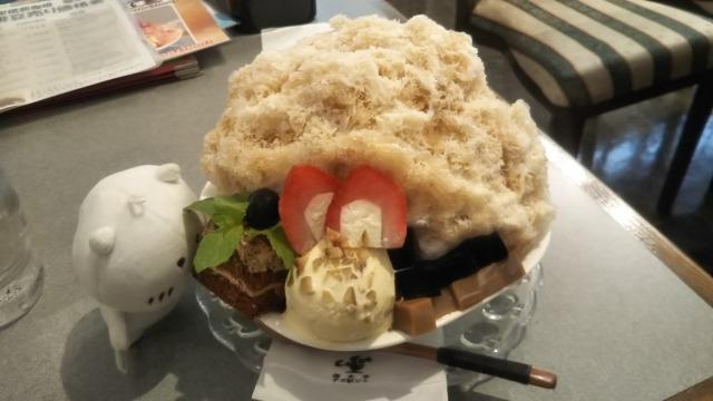 カフェ・レストラン珈水亭の水出しコーヒーの雪くま