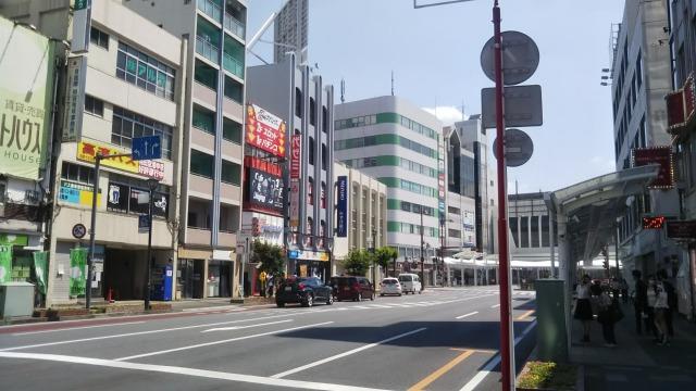 熊谷駅前の通り