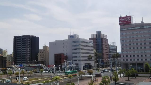 高知駅前からみた光景