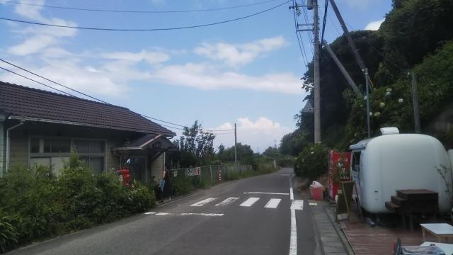 下灘駅前の道