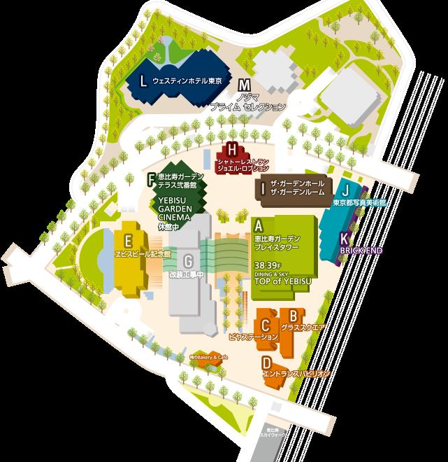 恵比寿ガーデンプレイスのマップ